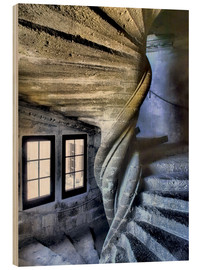 Wood  Spiral staircase in the Chateau de Lourmarin - Julie Eggers