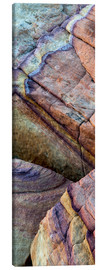 Canvas print  Abstract lines in the sandstone - Judith Zimmerman