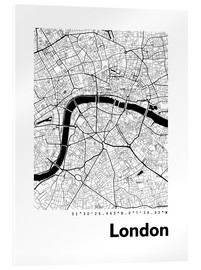 Acrylic glass  City map of London - 44spaces