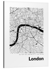 Aluminium print  City map of London - 44spaces