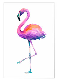 Premium poster  Flamingo 2 - Miss Coopers Lounge