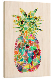 Wood print  Pineapple - Miss Coopers Lounge