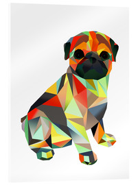 Acrylic glass  Molly Pug 2 - Miss Coopers Lounge