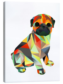Canvas print  Molly Pug 2 - Miss Coopers Lounge