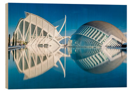 Wood print  Museum Valencia, City of Arts and Science - Thomas Hagenau