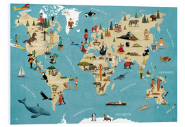 coico - World map with animals