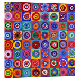 Acrylic print  Square of circles according to Kandinsky - David Newton
