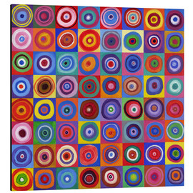 Aluminium print  Square of circles according to Kandinsky - David Newton
