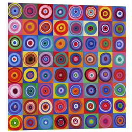 Foam board print  Square of circles according to Kandinsky - David Newton