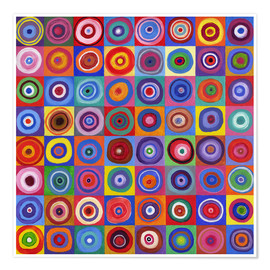 Premium poster  Square of circles according to Kandinsky - David Newton