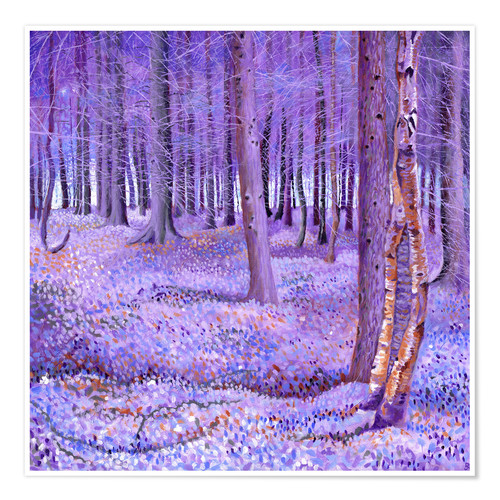 Premium poster Purple Forest 2
