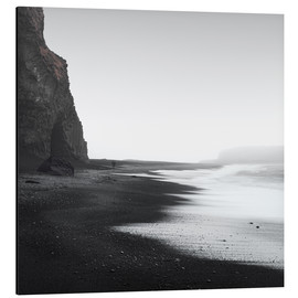 Aluminium print  Black beach in Iceland - Philipp Dase