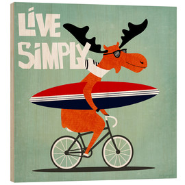 Wood print  gaby jungkeit live simply - coico