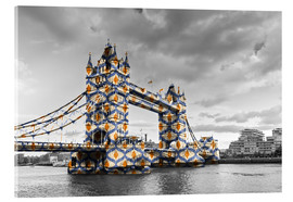 Acrylic print  Tower Bridge Colour Pop
