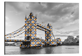 Aluminium print  Tower Bridge Colour Pop