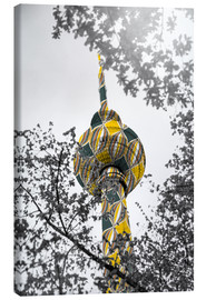 Canvas print  TV tower Colour Pop