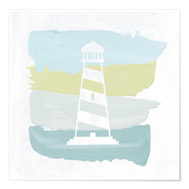 Premium poster Seaside Swatch Lighthouse