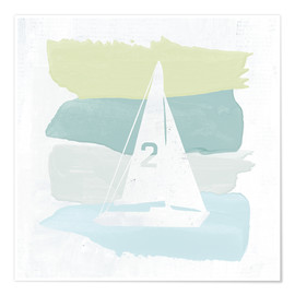 Premium poster Seaside Swatch Sailboat