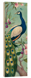 Wood print  Pretty Peacock II - Julia Purinton