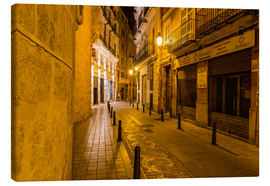 Canvas print  Valencia old town at night - Thomas Hagenau