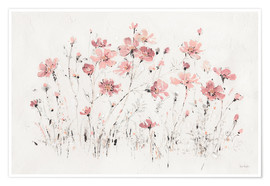 Premium poster  Wildflowers in pink - Lisa Audit
