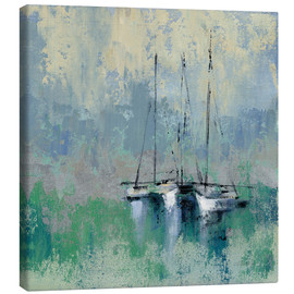 Canvas  Boats in the Harbor II - Silvia Vassileva