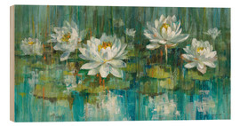 Wood print  Water Lily Pond - Danhui Nai