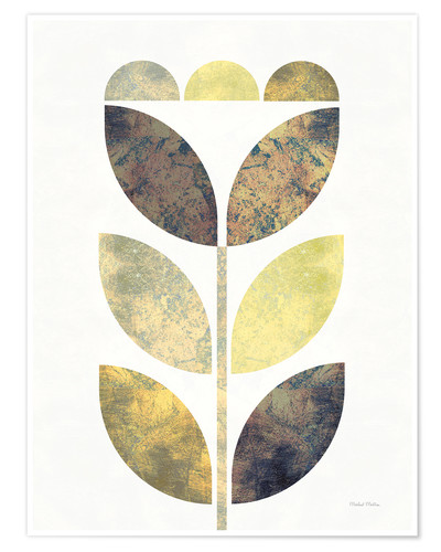 Premium poster Golden Flower I