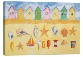 Canvas  Beach Huts - Michael Clark