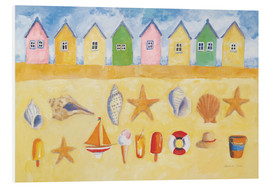 Foam board print  Beach huts - Michael Clark