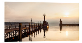Acrylic print  Morning mood in Constance on Lake Constance - Dieterich Fotografie