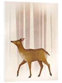 Acrylic glass  Snowy doe - Ryan Fowler
