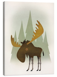 Canvas  Forest Moose - Ryan Fowler