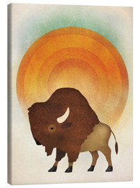 Canvas  Blazing sun bison - Ryan Fowler