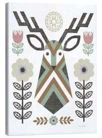 Canvas print  Folk Lodge Deer - Michael Mullan