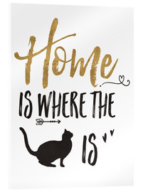 Acrylic print  Home is where the cat is - Veronique Charron