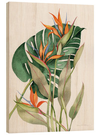 Wood print  Botanical Birds of Paradise - Kathleen Parr McKenna