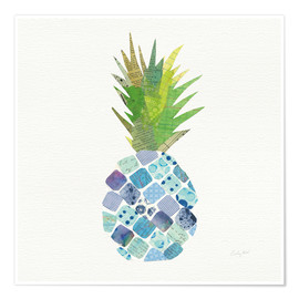Premium poster  Tropical Pineapple II - Courtney Prahl