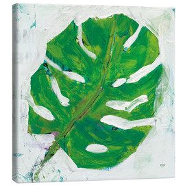Canvas  Monster leaf on white - Kellie Day