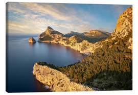 Canvas  Evening sun at Cap de Formentor, Mallorca - Michael Valjak