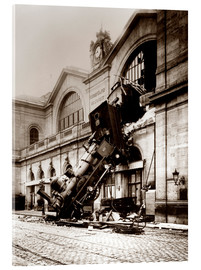 Acrylic print  Train accident at the Montparnasse station, Paris - John Parrot