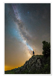 Premium poster One looks at the Milky Way