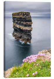 Canvas print  Downpatrick Head in front of Gray Lake in Ireland - Francesco Vaninetti