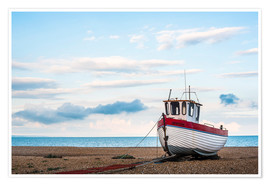 Premium poster Fishing boat on Dungeness Beach, Kent