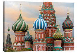 Canvas print  St. Basil's Cathedral in Moscow - Miles Ertman
