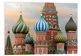 Foam board print  St. Basil's Cathedral in Moscow - Miles Ertman