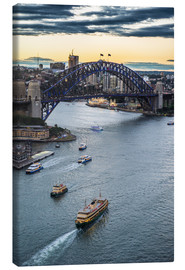 Canvas print  View over Sydney Harbor - Michael Runkel