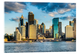 Acrylic print  The skyline of Sydney at sunset - Michael Runkel