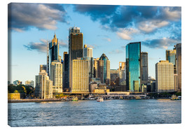 Canvas  The skyline of Sydney at sunset - Michael Runkel