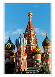Premium poster  Closeup of the Cathedral of St. Basil's Cathedral, Moscow - Miles Ertman
